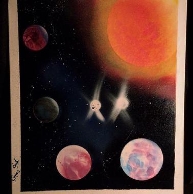 صورة لوحه  الفضاء