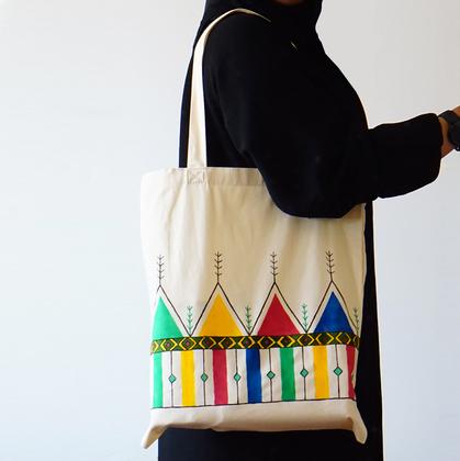 صورة BKR: حقيبة تحميل من الكانفاس الناعم بنقشة القط العسيري