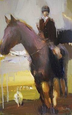 صورة لوحة الفارس والحصان