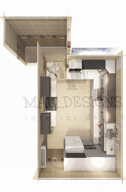 صورة تصميم مطبخ