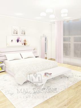 صورة تصميم مبدئي لغرفة نوم