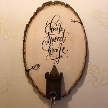 صورة لوحة  مدخل  home sweet home